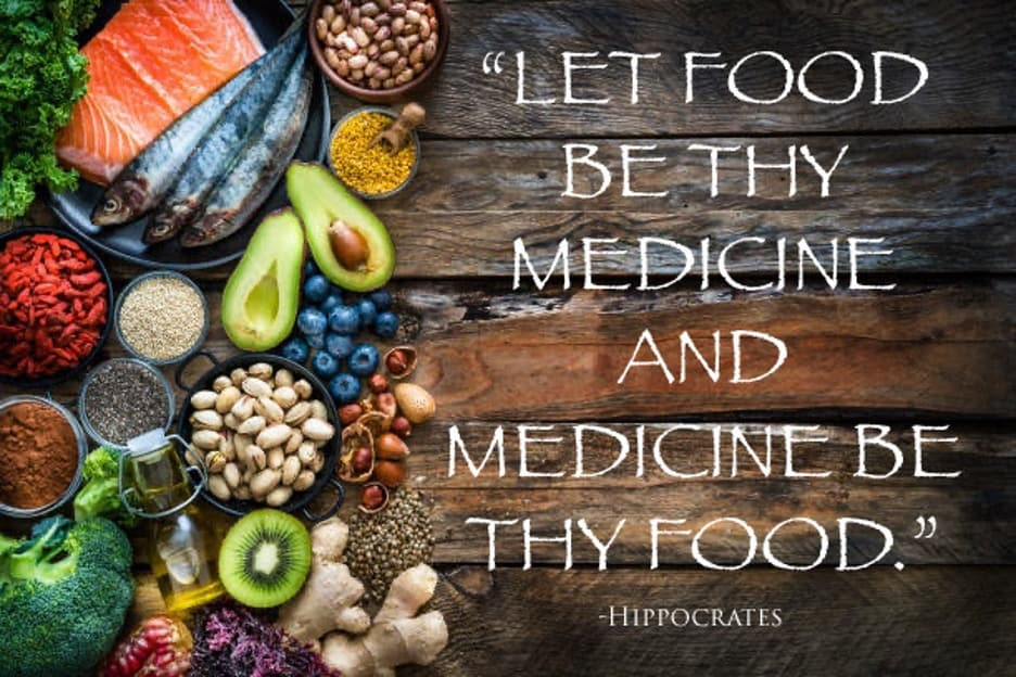 """""""Let food be thy medicine and medicine be thy food"""" - Hippocrates"""